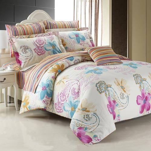 North Home Mirage 100% Cotton 4pc Duvet Cover Set(Queen)