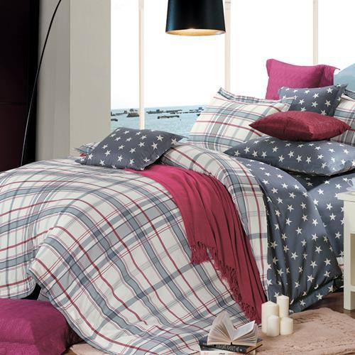 North Home Oxford 100% Cotton 4 PC Duvet Cover Set(queen )
