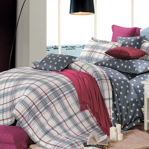 North Home Oxford 100% Cotton 4 PC Duvet Cover Set(King )
