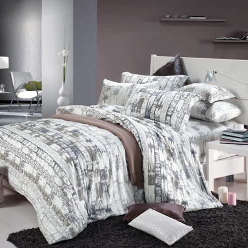 North Home Heritage 100% Cotton 4 PC Duvet Cover Set(queen )