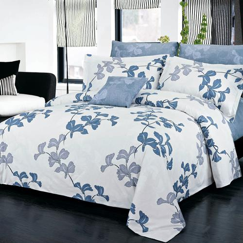 North Home Serenity 100% Cotton 4 PC Duvet Cover Set(queen )