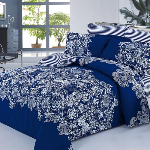North Home Alexis 100% Cotton 4 PC Duvet Cover Set(queen )