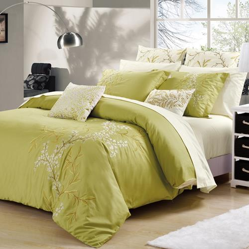 North Home Abby 7PC Duvet Cover Set, queen size