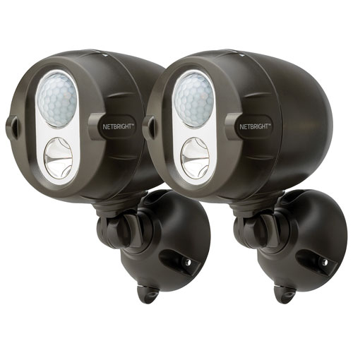Mr. Beams Wireless LED Spotlight - 2 Pack - Brown