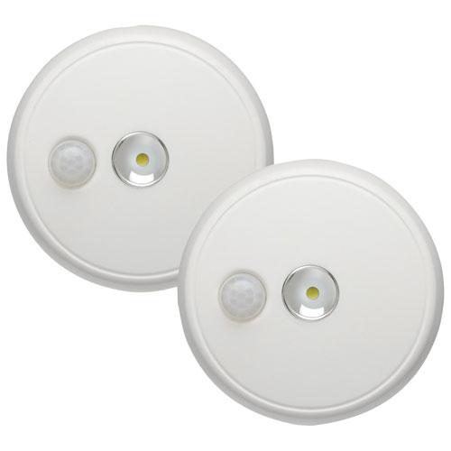 DEL de plafond sans fil de Mr. Beams - Paquet de 2 - Blanc