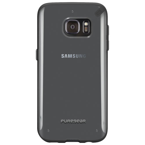 PureGear Slim Galaxy S7 Fitted Hard Shell Case - Clear/Black