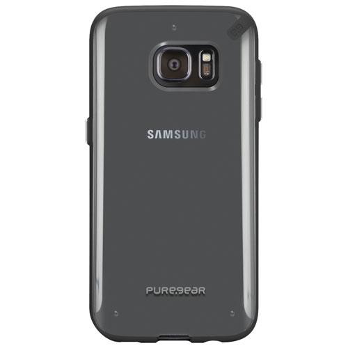 Étui rigide de PureGear pour Galaxy S7 - Transparent - Noir