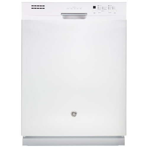 "GE 24"" 49dB Built-In Dishwasher with Stainless Steel Tub (GDF630SGKWW) - White"