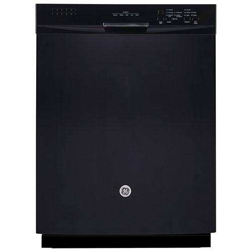 Lave-vaisselle encastrable 49 dB intérieur en acier inoxydable de 24 po de GE (GDF630SGKBB) - Noir