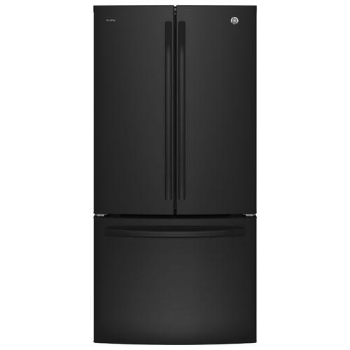 Réfrigérateur à deux portes avec éclairage DEL 24,8 pi3 33 po de GE (PNE25JGKBB) - Noir
