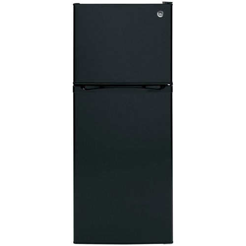 "GE 24"" 11.6 Cu. Ft. Top Freezer Refrigerator with LED Lighting (GPE12FGKBB) - Black"