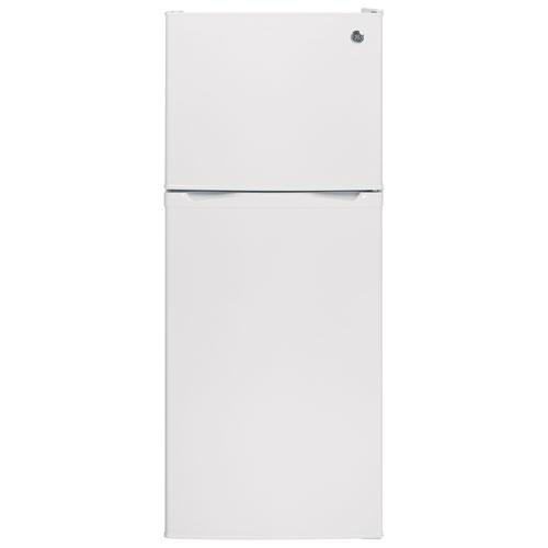 Réfrigérateur à congélateur supérieur avec éclairage DEL 11,6 pi3 24 po de GE (GPE12FGKWW) - Blanc