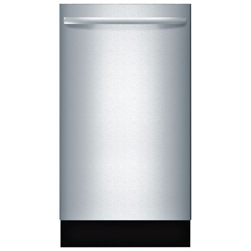 "Bosch 800 Series 18"" 44dB Built-In Dishwasher with Stainless Steel Tub (SPX68U55UC) - Stainless Steel"