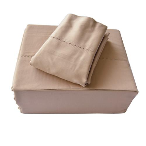 North Home - Isabelle 310 Thread Count 100% Egyptian Cotton Sheet Set (King,Taupe)