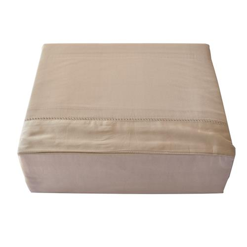 North Home - Isabelle 310 Thread Count 100% Egyptian Cotton Duvet Cover Set (King,Taupe)