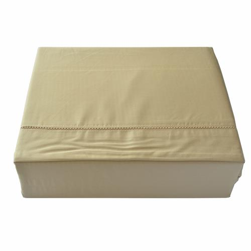 North Home - Isabelle 310 Thread Count 100% Egyptian Cotton Duvet Cover Set (Queen,Gold)
