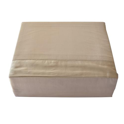 North Home - Isabelle 1000 Thread Count 100% Egyptian Cotton Duvet Cover Set (Queen,Taupe)