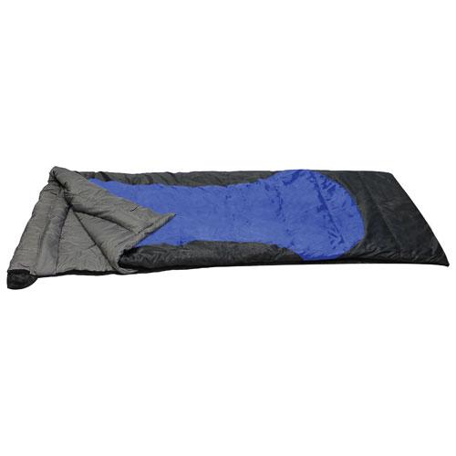 Sac de couchage Heat Zone rectangulaire de Rockwater Designs - Bleu royal/gris foncé