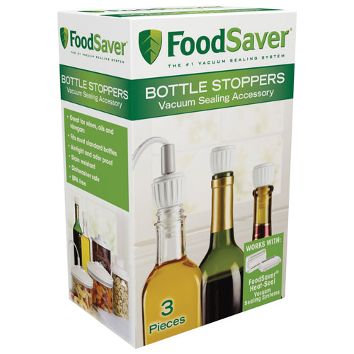 FoodSaver Bottle Stopper - 3 Pieces