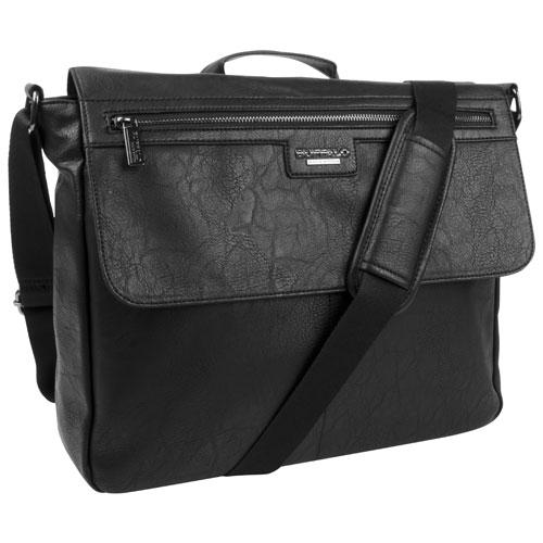 Buffalo Tim Messenger Bag - Black : Messenger Bags & Briefcases ...