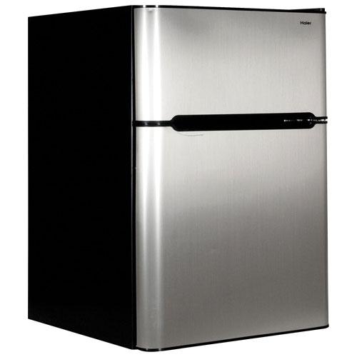 haier mini refrigerator. haier 3.2 cu. ft. 2-door free-standing bar fridge (hrc3251acv mini refrigerator a