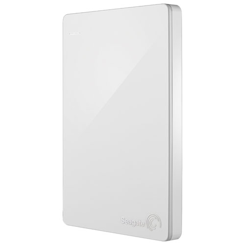 "Seagate Backup Plus Slim 2TB 2.5"" USB 3.0 Portable External Hard Drive (STDR2000306) - White"