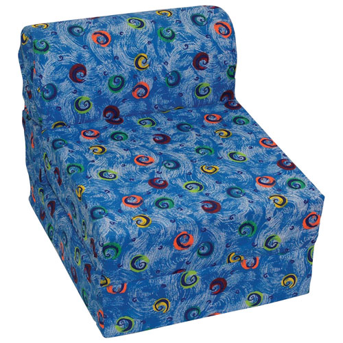 Comfy Kids Traditional Kids Chair - Blue Swirls