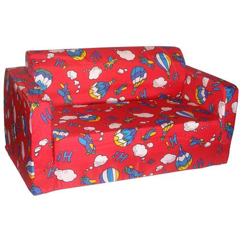 Sofa rabattable traditionnel pour enfants de Comfy Kids - Ballons
