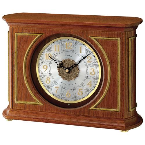 Seiko Musical Analog Mantel Clock - Brown/Silver/Gold