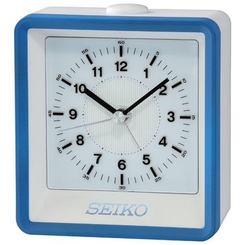 Seiko Analog Tabletop Alarm Clock - Brown/Silver/Gold