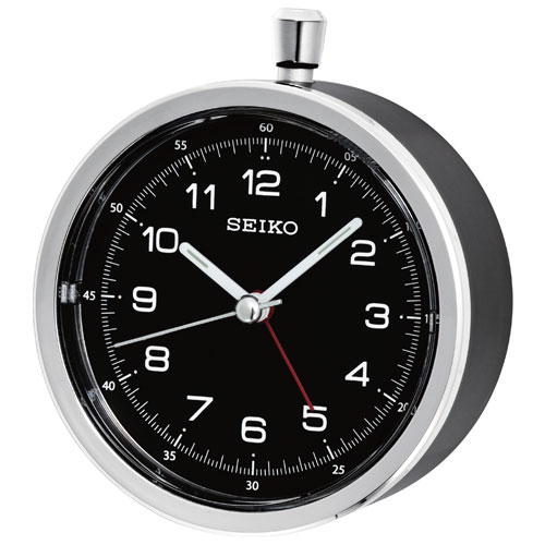 Seiko Tabletop Alarm Clock - Black/Grey