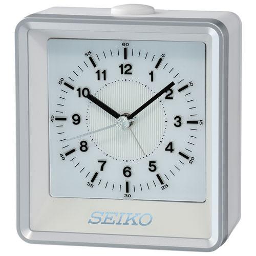 Seiko Analog Tabletop Alarm Clock - Silver (QHE099S)