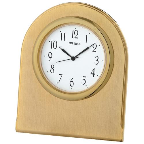 Seiko Analog Table Clock - Gold/White