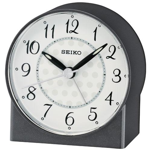 Seiko Analog Tabletop Alarm Clock - Black (QHE136K)