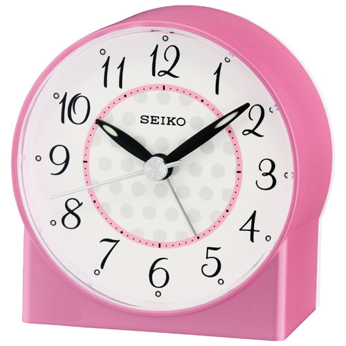 Seiko Analog Tabletop Alarm Clock - Pink