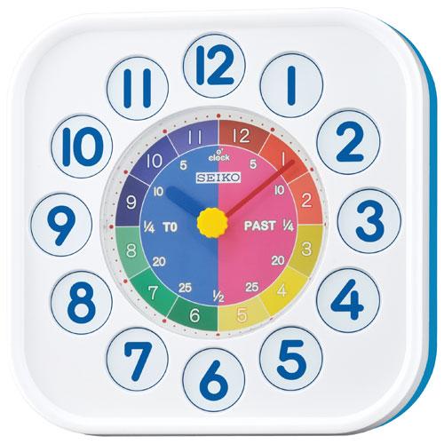 "Seiko Masa Saati 10"" Magnetic Wall Clock - Blue/White"