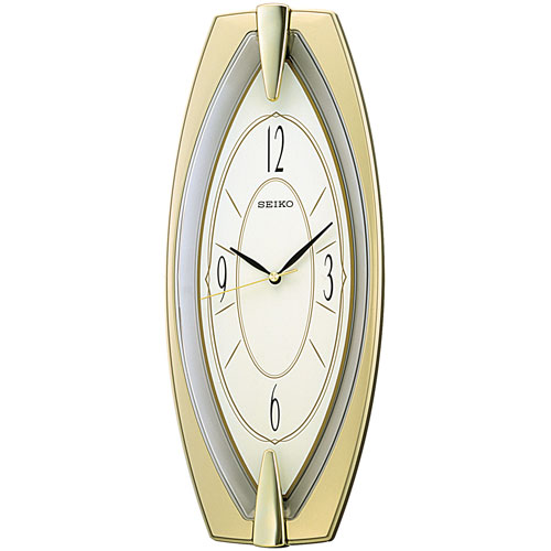 Seiko Two-tone Analog Wall Clock with - Gold/Silver