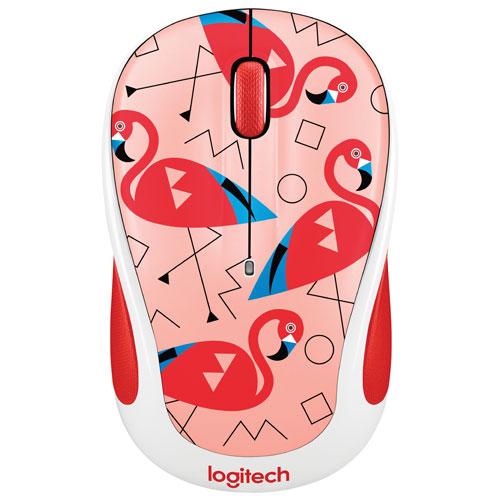 Logitech Party M325 Wireless Optical Mouse - Flamingo