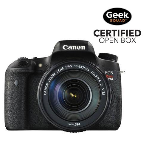 App. photo reflex numérique EOS Rebel T6S de Canon avec objectif IS STM 18-135 mm - Boîte ouverte