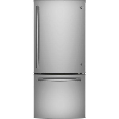 Réfrigérateur à congélateur en bas avec éclairage DEL 20,9 pi3 30 po de GE (GBE21AGKSS) - Inox