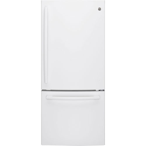 Réfrigérateur à congélateur en bas avec éclairage DEL 20,9 pi3 30 po de GE (GDE21DGKWW) - Blanc