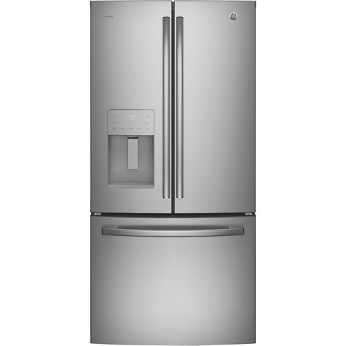 """GE Profile 33"""" 23.8 Cu. Ft. French Door Refrigerator with Ice & Water Dispenser - Stainless Steel"""
