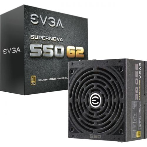 EVGA Power Supply 220-G2-0550-Y1 SuperNOVA 550 G2 Gold 550W Retail