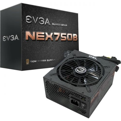 EVGA SuperNOVA B1 750W 80Plus Bronze Power Supply Unit (110-B1-0750-VR)