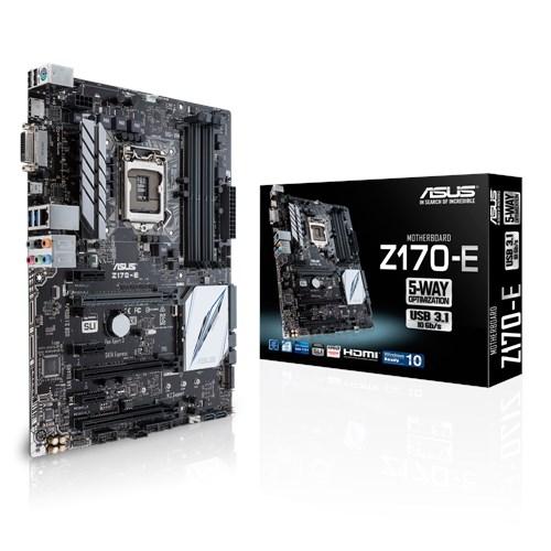 Asus Z170-E Desktop Motherboard - Intel Z170 Chipset - Socket H4 LGA-1151