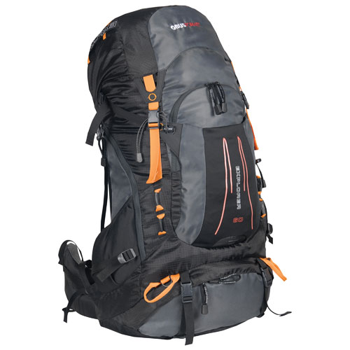 ObusForme Explorer Internal Frame 60L Travel Backpack - Grey/Black ...