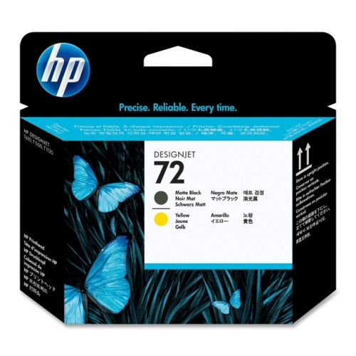 HP 72 Matte Black and Yellow Printhead