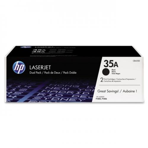 HP 35A 2-pack Black Original LaserJet Toner Cartridges