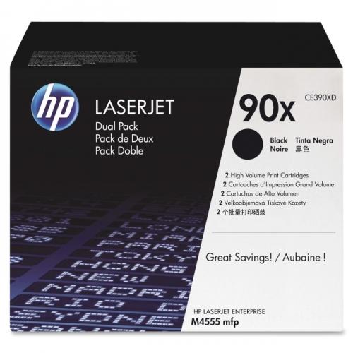 HP 90X (CE390XD) 2-pack High Yield Black Original LaserJet Toner Cartridges