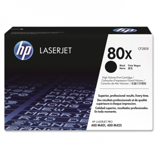 HP 80X (CF280X) High Yield Black Original LaserJet Toner Cartridge